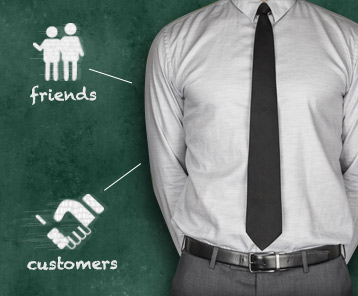 Customers and Friends: What's the Difference?